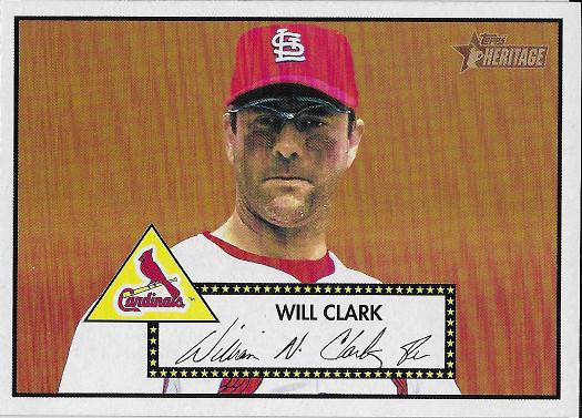 2001 Topps Heritage #237 Will Clark