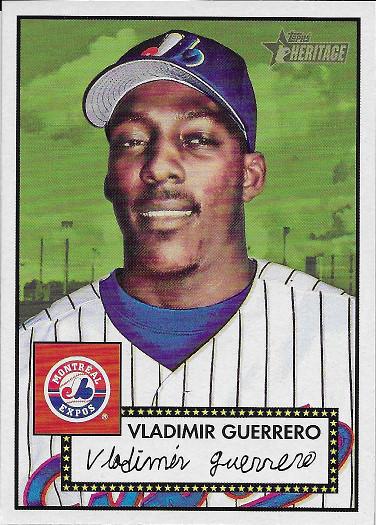 2001 Topps Heritage #300 Vladimir Guerrero