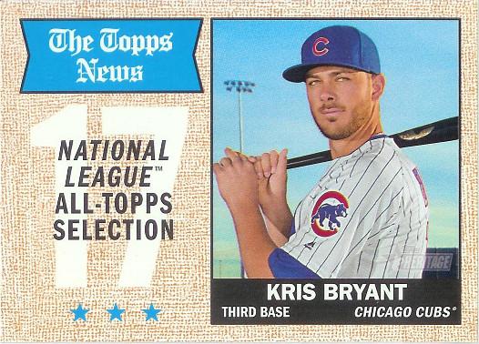 2017 Topps Heritage #371 Kris Bryant Topps News All Stars