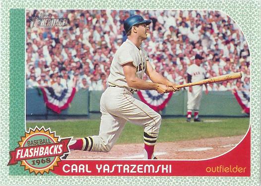 2017 Topps Heritage Baseball Flashbacks #BF-CY Carl Yastrzemski