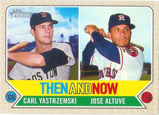 2017 Topps Heritage Then and Now #TAN-11 Carl Yastrzemski / Jose Altuve
