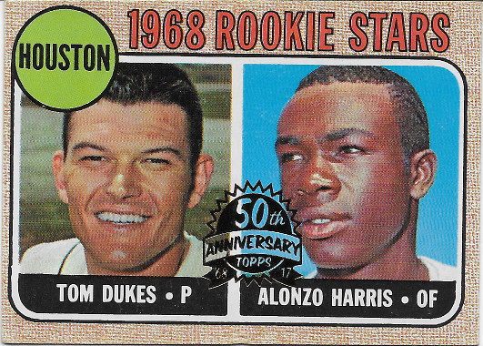 2017 Topps Heritage 50th Anniversary Buybacks 1968 #128 Rookie Stars - Tom Dukes / Alonzo Harris