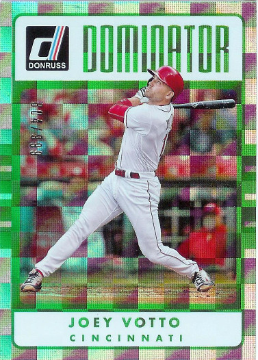 2017 Donruss Elite Dominator #D-8 Joey Votto