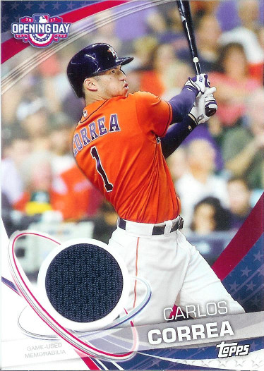 2017 Topps Opening Day Relics #ODR-CC Carlos Correa