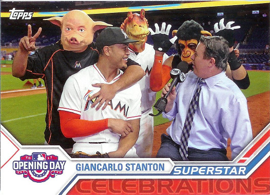 2017 Topps Opening Day Superstar Celebrations #SC-21 Giancarlo Stanton