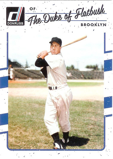 2017 Donruss #179 Duke Snider VAR SP (The Duke of Flatbush)