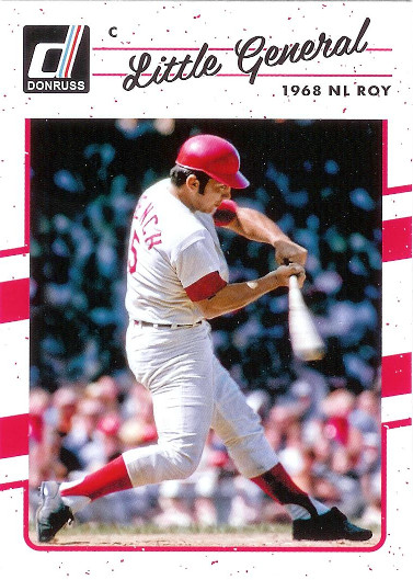 2017 Donruss #182 Johnny Bench VAR SP (Little General)