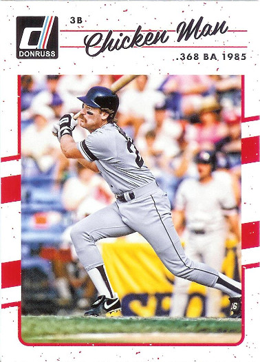 2017 Donruss #191 Wade Boggs VAR SP (Chicken Man)