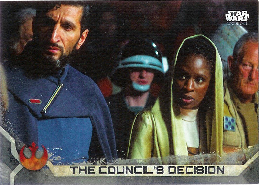 2017 Topps Star Wars Rogue One Gray Squadron #42 The Council's Decision