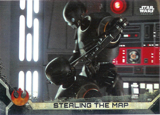 2017 Topps Star Wars Rogue One Death Star Black #56 Stealing the Map