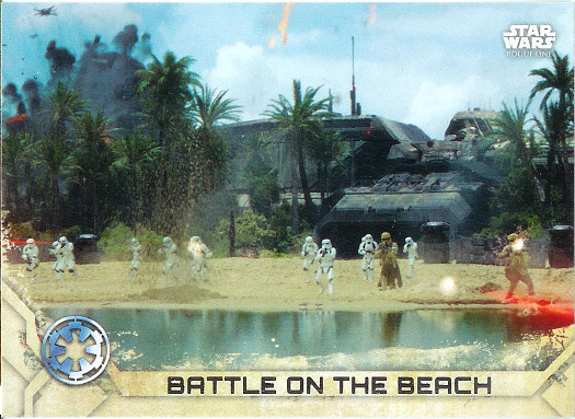 2017 Topps Star Wars Rogue One #80 Battle on the Beach
