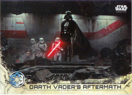 2017 Topps Star Wars Rogue One #100 Darth Vader's Aftermath