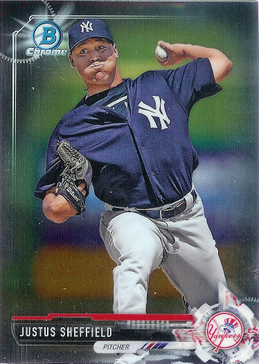 2017 Bowman Chrome Prospect #BCP132 Justus Sheffield