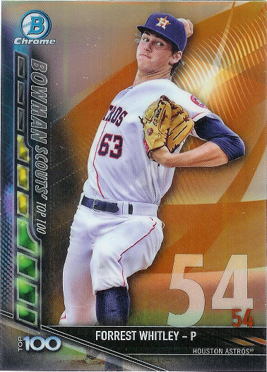 2017 Bowman Top 100 #BTP-54 Forrest Whitley
