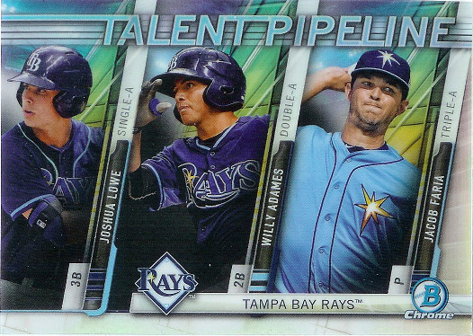 2017 Bowman Talent Pipeline #TP-TBR Joshua Lowe / Willy Adames / Jacob Faria