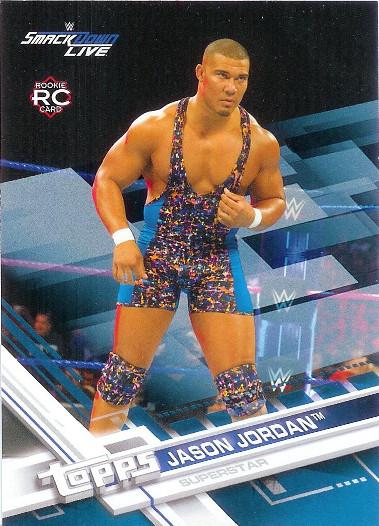 2017 Topps WWE Blue #45 Jason Jordan RC