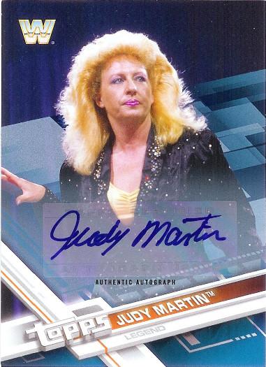 2017 Topps WWE Autograph Blue #96 Judy Martin