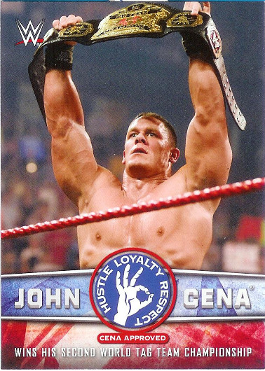 2017 Topps WWE John Cena Tribute #15 Wins his Second World Tag Team Championship