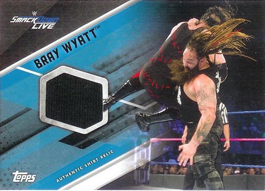 2017 Topps WWE Shirt Swatch Relics Blue Bray Wyatt