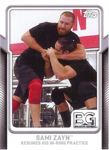 2017 Topps WWE Breaking Ground #9 Sami Zayn Resumes His In-Ring Practice