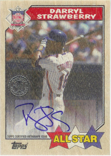 2017 Topps 1987 Topps Autographs Birch #1987A-DST Darryl Strawberry