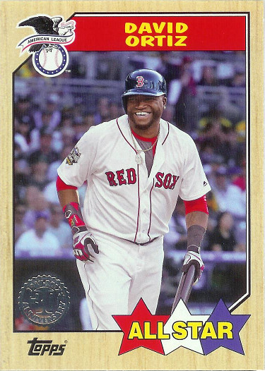 2017 Topps 1987 Topps #87-121 David Ortiz AS