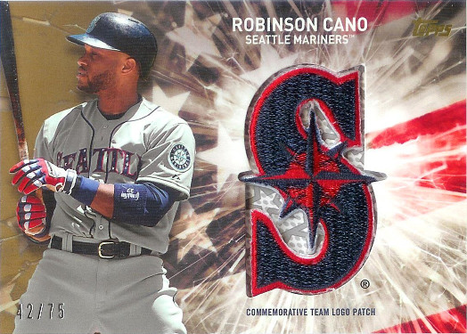 2017 Topps Independence Day Commemorative Team Logo Patches Gold #IDTL-RC Robinson Cano