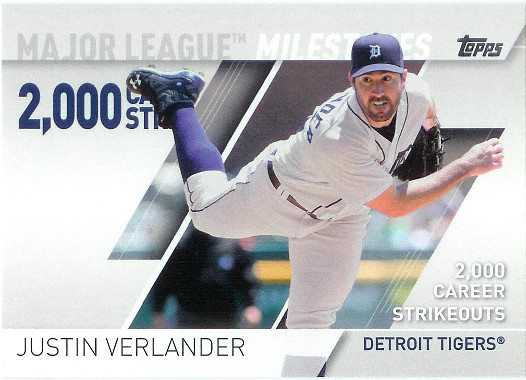2017 Topps Major League Milestones #MLM-14 Justin Verlander