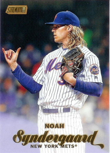 2017 Stadium Club Gold Foil #3 Noah Syndergaard