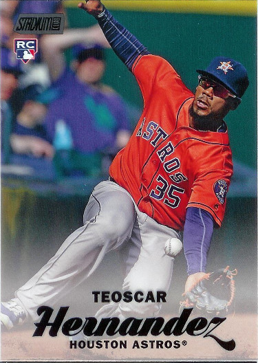 2017 Stadium Club Black Foil #66 Teoscar Hernandez RC