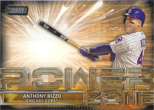 2017 Stadium Club Power Zone #PZ-AR Anthony Rizzo