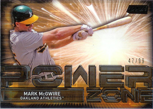 2017 Stadium Club Power Zone Black Foil #PZ-MMC Mark McGwire