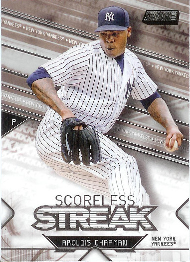 2017 Stadium Club Scoreless Streak #SS-AC Aroldis Chapman