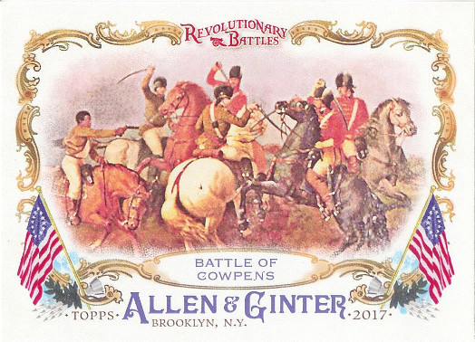 2017 Allen & Ginter Revolutionary Battles #RB-8 Battle of Cowpens