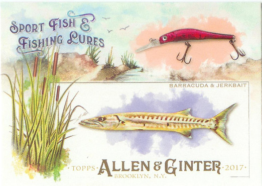 2017 Allen & Ginter Sport Fish & Fishing Lures #SFL-19 Barracuda