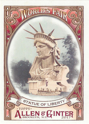 2017 Allen & Ginter World's Fair #WF-17 Statue of Liberty Exposition Universelle
