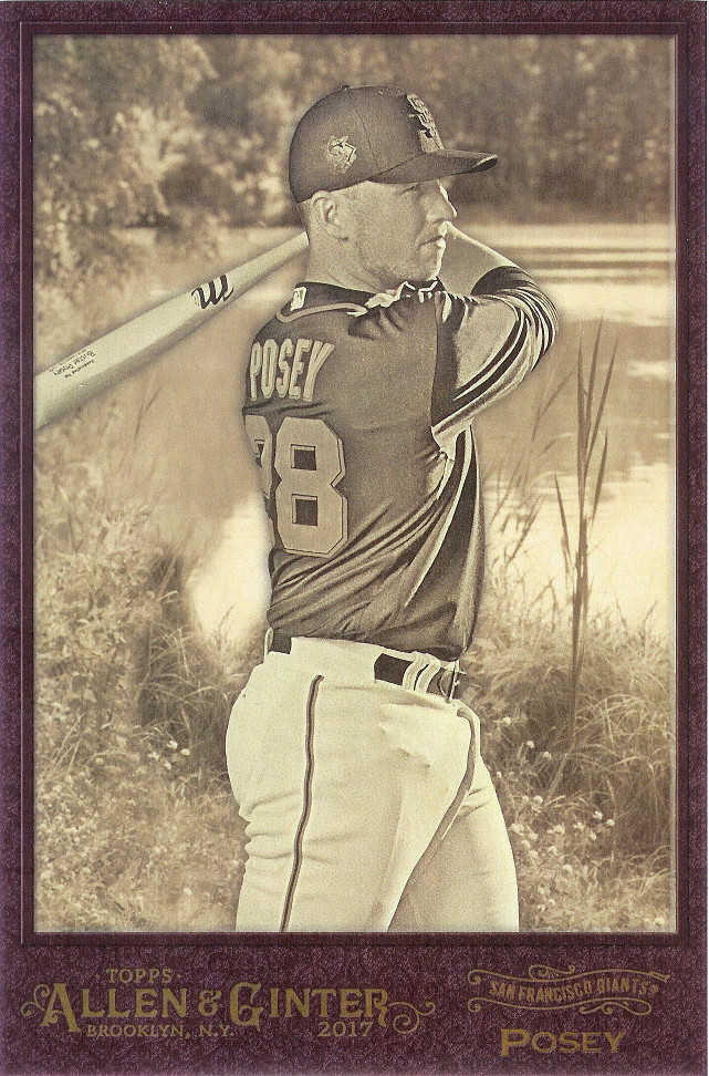 2017 Allen & Ginter Oversized Box Loaders #BL-BP Buster Posey