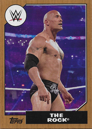 2017 Topps Heritage WWE Bronze #9 The Rock