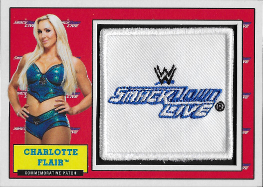 2017 Topps Heritage WWE Commemorative Patch Manufactured Relic # Charlotte Flair