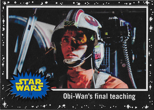 2017 Topps Star Wars Journey to The Last Jedi Black #18 Obi-Wan's final teaching