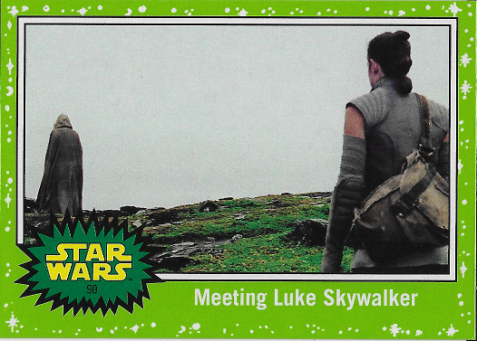 2017 Topps Star Wars Journey to The Last Jedi Green #90 Meeting Luke Skywalker