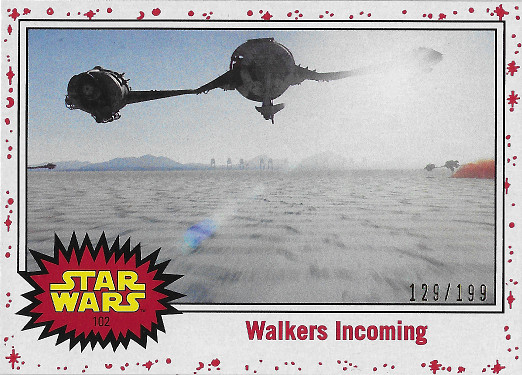 2017 Topps Star Wars Journey to The Last Jedi White #102 Walkers Incoming