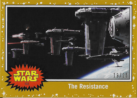 2017 Topps Star Wars Journey to The Last Jedi Gold #103 The Resistance
