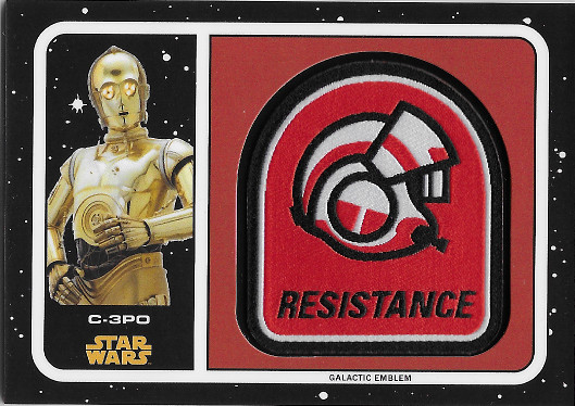 2017 Topps Star Wars Journey to The Last Jedi Patches # C-3PO / Resistance