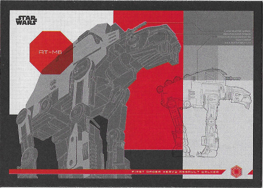 2017 Topps Star Wars Journey to The Last Jedi Blueprints #1 First Order Heavy Assault Walker