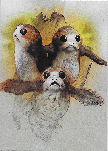 2017 Topps Star Wars Journey to The Last Jedi Character #16 Porgs