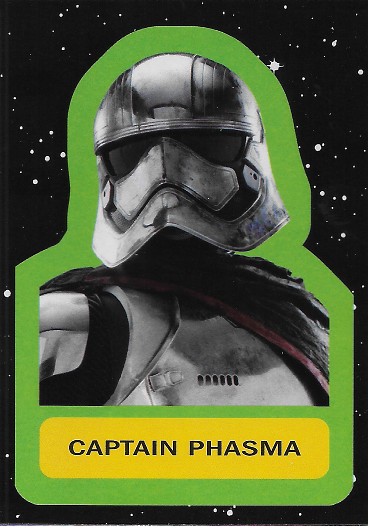 2017 Topps Star Wars Journey to The Last Jedi Sticker #6 Captain Phasma