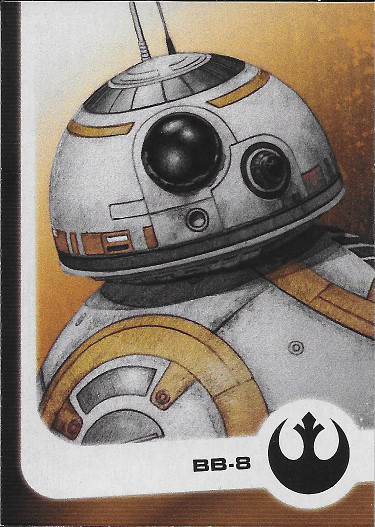 2017 Topps Star Wars Journey to The Last Jedi Illustrated Characters #8 BB-8