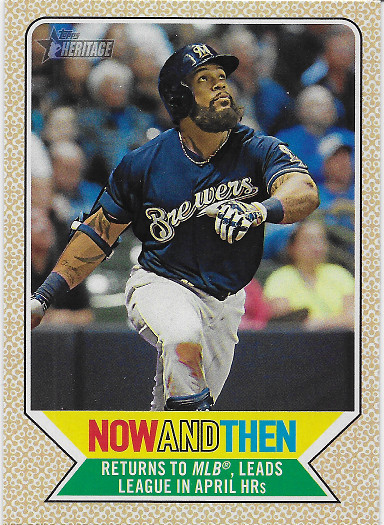 2017 Topps Heritage Now and Then #NT-12 Eric Thames