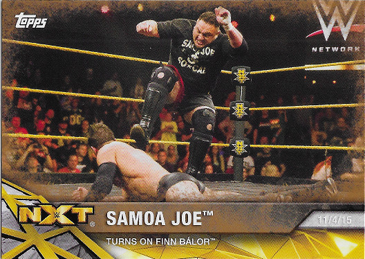 2017 Topps WWE NXT Matches & Moments Bronze #10 Samoa Joe Turns on Finn Balor